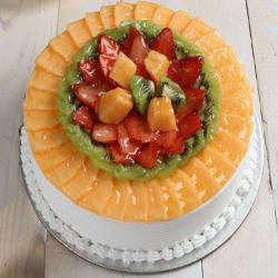 Eggless Fresh Fruit Cake from Five Star Bakery
