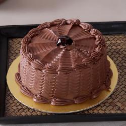 Eggless One Kg Fresh Cream Sugar Free Chocolate Cake