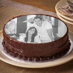 Eggless Personalised Photo Cake for My Love