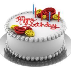 Eggless Vanilla Birthday Cake