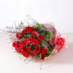 Eighteen Long Stemmed Red Roses Bouquet