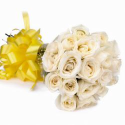 Eighteen White Roses Bouquet