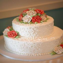 Engagement Vanilla Cake