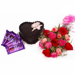 Enjoy Chocolately Day with Fresh Flowers