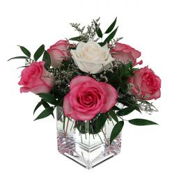 Enticing Fresh Rose Vase