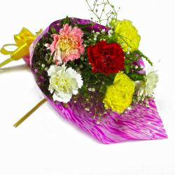 Exclusive Bouquet of Mix Color Carnations