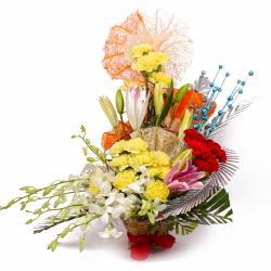 Exclusive Designer Flowers Basket Arrangement