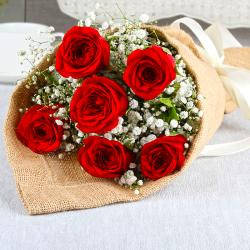 Exclusive Romantic Red Roses Bouquet