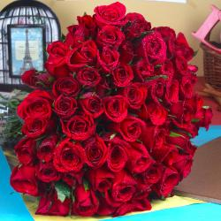 Exotic 75 Red Roses Bouquet
