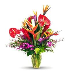 Exotic Flowers Vase