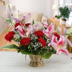 Exotic Lilies and Carnations Arrangement
