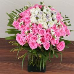 Exotic Roses Vase Arrangement