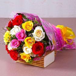 Fifteen Mix Roses Bouquet