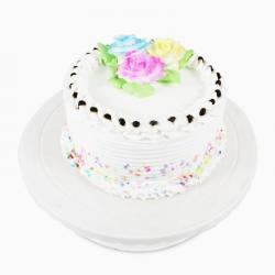 Floral Round Vanilla Cake