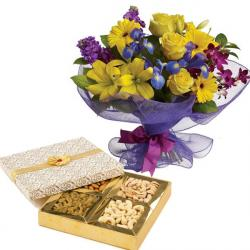 Flowers and Dryfruit Box