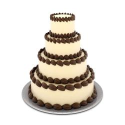 Four Tier Coffee Chocolate Cake