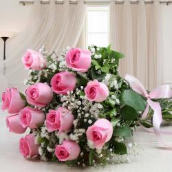 Fresh Pink Roses Beautiful Bouquet
