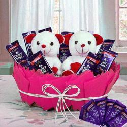 Gift Basket of Choco Teddy