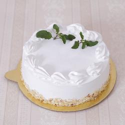Half Kg Almond White Forest Cake