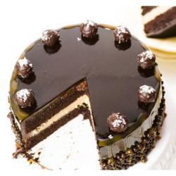Half Kg Designer Dark Chocolate Cake