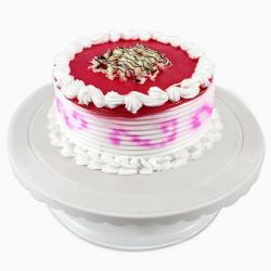 Half Kg Round Strawberry Cake