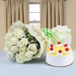 Hamper of Roses and Cake