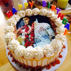Happy Birthday Butter Scotch Photo Cake