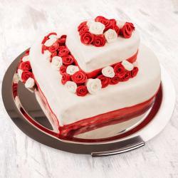 Heart Shape Two Tier Cake