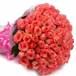 Light 75 Pink Roses Bouquet