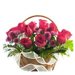 Love Basket Of Roses