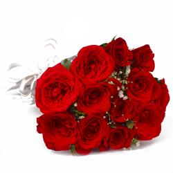 Love Bloom with 12 Red Roses