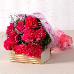 Lovely Pink Carnations Bouquet