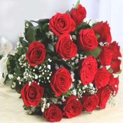 Lovely Twenty Red Roses Bouquet