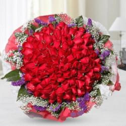 Memorable Red Roses Bouquet