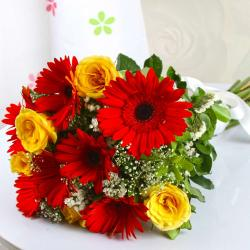 Mix Bouquet of Gerberas and Roses