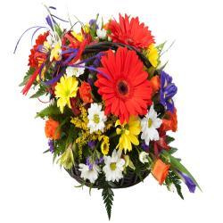 Mix Color Fresh Flower Basket