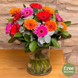 Mix Flowers Gerberas Vase