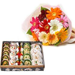 Mix Gerberas with Sweets