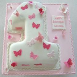 Number Shape Vanilla Cake