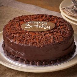 One Kg Chocolate Dust Birthday Cake