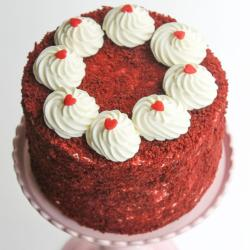 One Kg Round Shape Red Velvet Cake