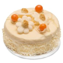 One Kg White Floral Cake
