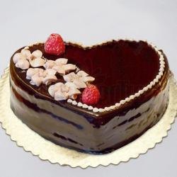 Paleo Heart Shape Fresh Cream Cake