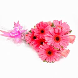 Perfect Twelve Pink Floral Bunch