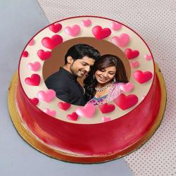 Personalised Photo Cake For Couple