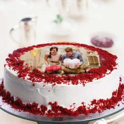 Personalised Red Velvet Photo Cake