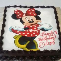 Personalized Dark Chocolate Cake
