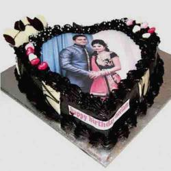 Personalized Romantic Photo Cake