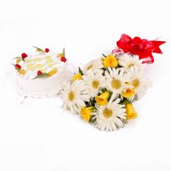 Pineapple Cake Treat with Refreshing Bouquet