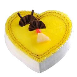 Pineapple Heart Shape Cake from Five Star Bakery